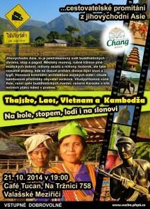 Thajsko Laos Vietnam a Kambodža