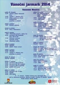 Program vánoční jarmark 2014